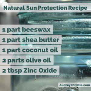 natural sunscreen recipe